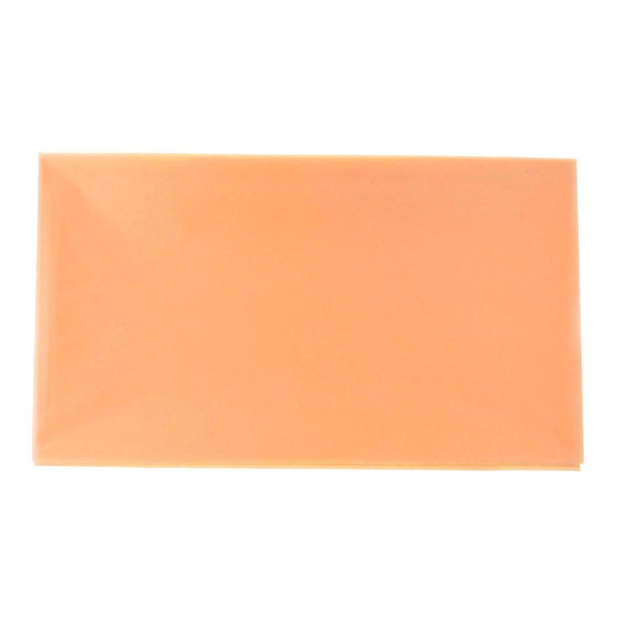Plastic Table Cover, Rectangular, 54-Inch x 108-Inch, Peach