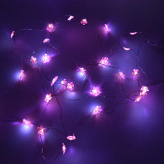 Flower Battery Operated Fairy String Lights, Pink, 10-Feet, 30 LED