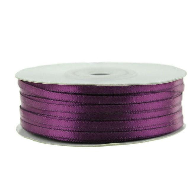 Double Faced Satin Ribbon, 1/8-inch, 100-yard, Plum