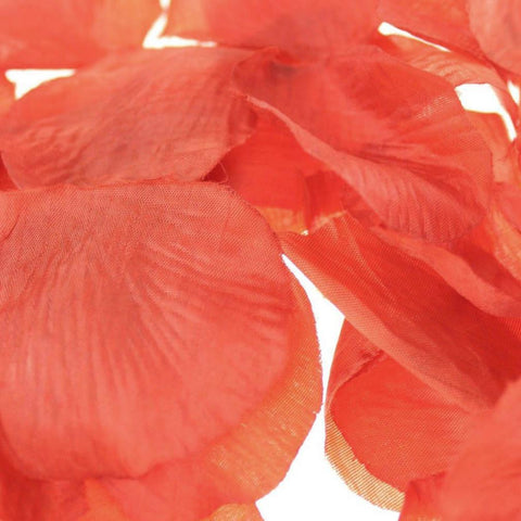 Solid Faux Rose Petals Table Confetti, 400-Piece, Red