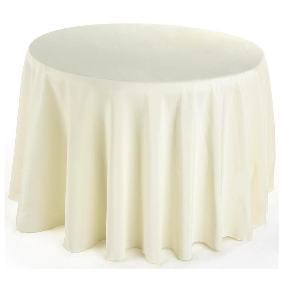 Round Fabric Table Cloth Cover, 120-Inch