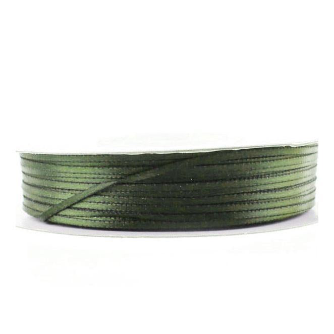 Double Faced Satin Ribbon, 1/16-inch, 100-yard, Moss Green