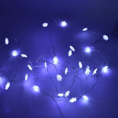 Snowflake Battery Operated Fairy String Lights, Cool White, 10-Feet, 30 LED
