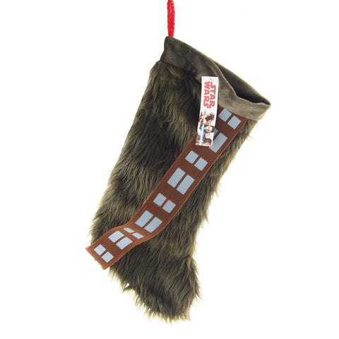 Star Wars Chewy Fur and Sash Plush Christmas Stocking, Brown, 16-Inch