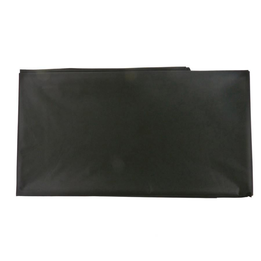 Plastic Table Cover, Rectangular, 54-Inch x 108-Inch, Black
