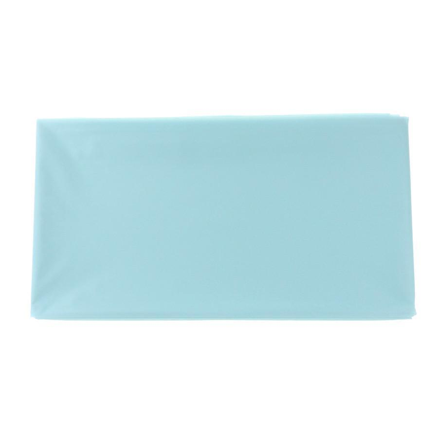 Plastic Table Cover, Round, 84-Inch, Light Blue