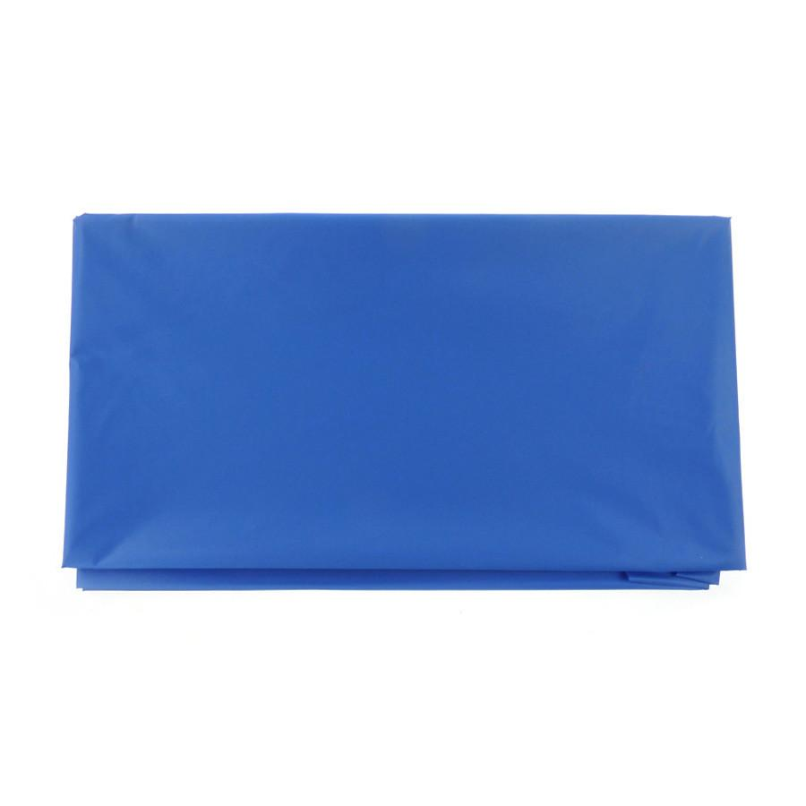 Plastic Table Cover, Round, 84-Inch, Royal Blue
