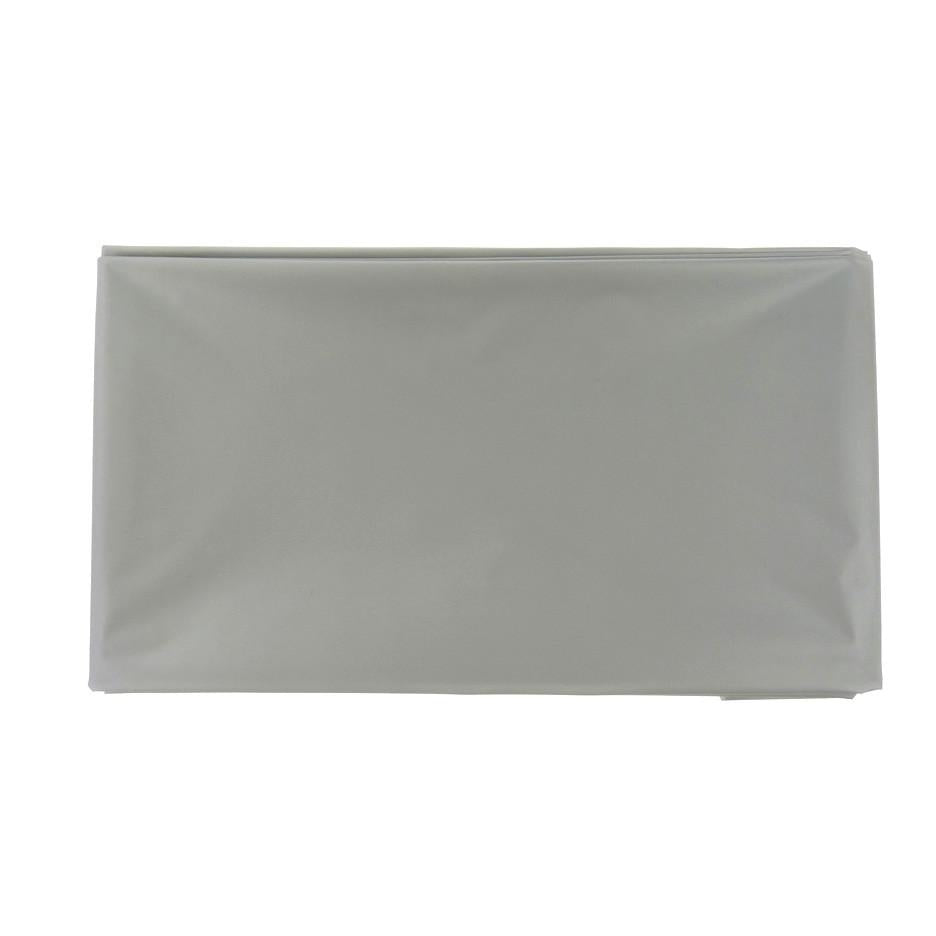 Plastic Table Cover, Rectangular, 54-Inch x 108-Inch, Silver