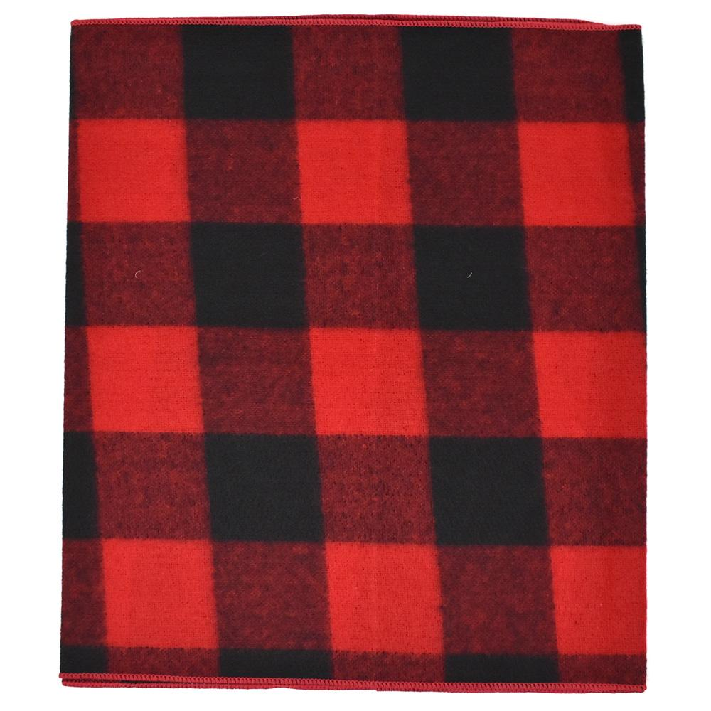 Felt Large Square Checkered Christmas Holiday Table Runner, 14-Inch, 6-Feet, Red/Black