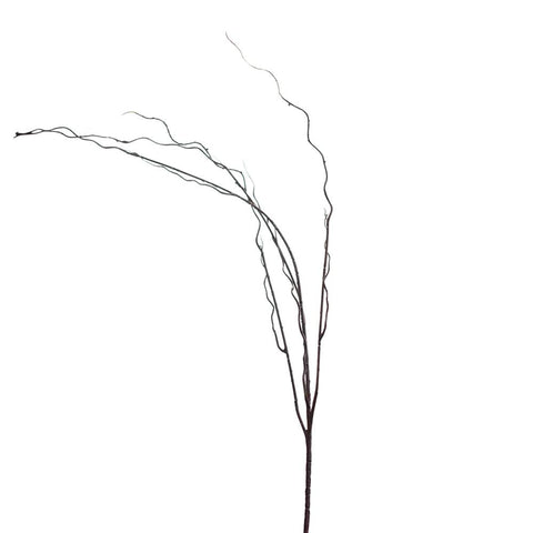 Long Curly Plastic Twig Spray, Brown, 46-Inch
