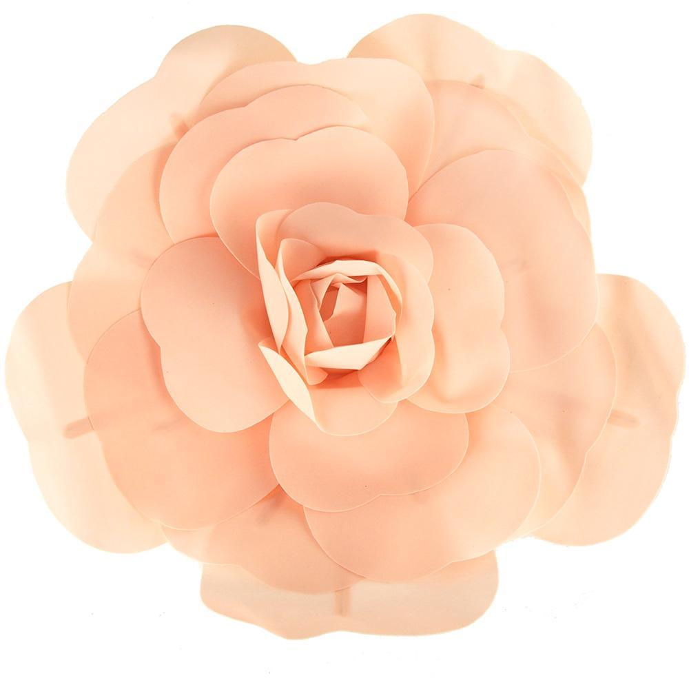Rose Foam Wall Flowers, Blush, Assorted Sizes, 2 Piece