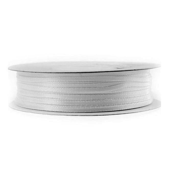 Double Faced Satin Ribbon, 1/16-inch, 100-yard, White
