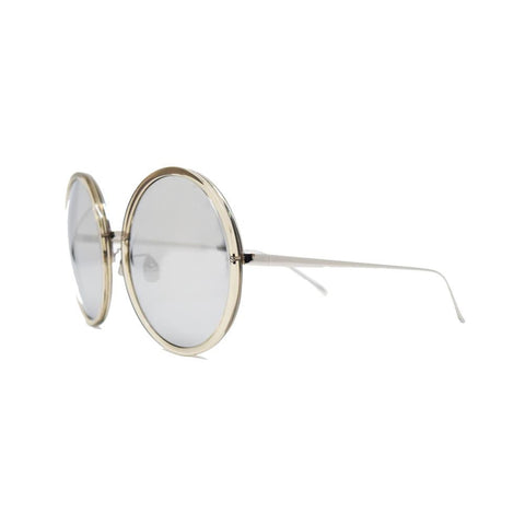 Linda Farrow 457 Round Sunglasses In Truffle