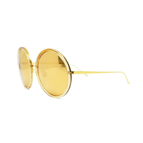 Linda Farrow 457 Round Sunglasses In Dew
