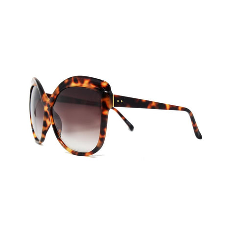 Linda Farrow 465 Oversized Sunglasses in Tortoise Shell
