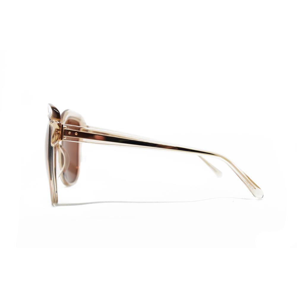 760de277a055 Linda Farrow 465 Oversized Sunglasses in Rose Gold – Spectacle Hut
