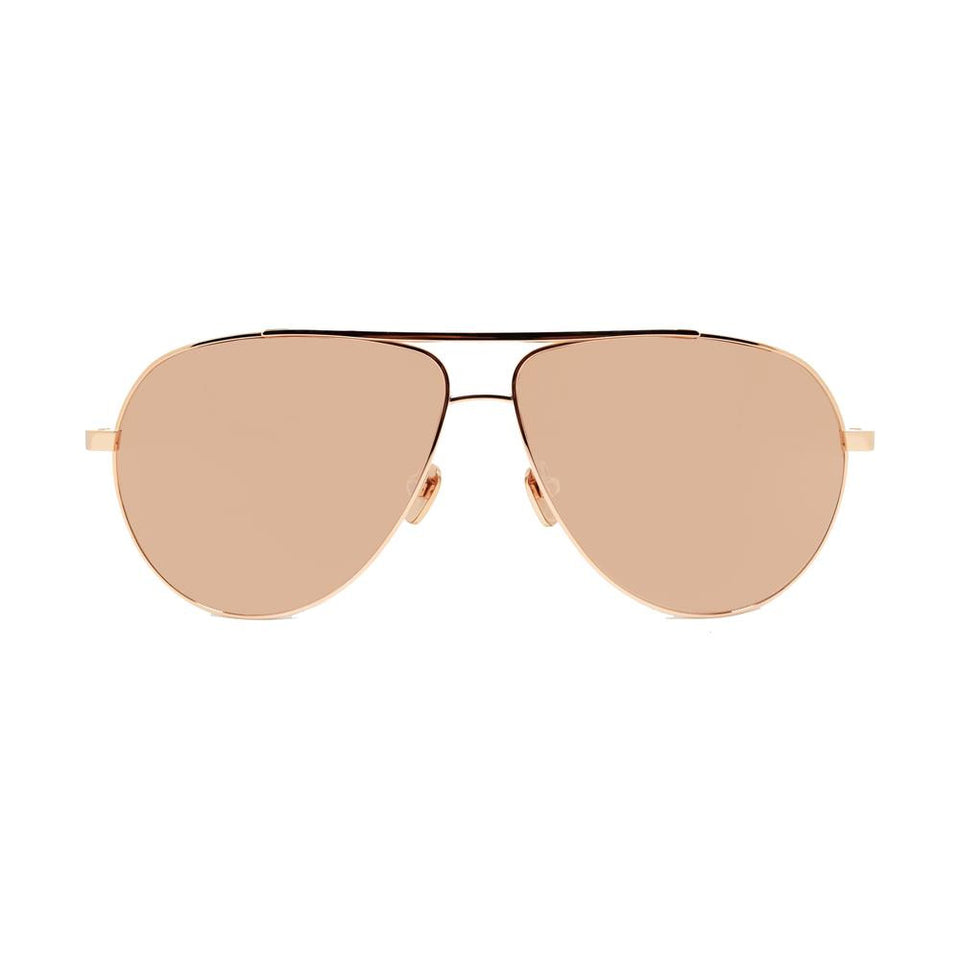 14599708a557 Linda Farrow 501 Aviator Sunglasses in Rose Gold