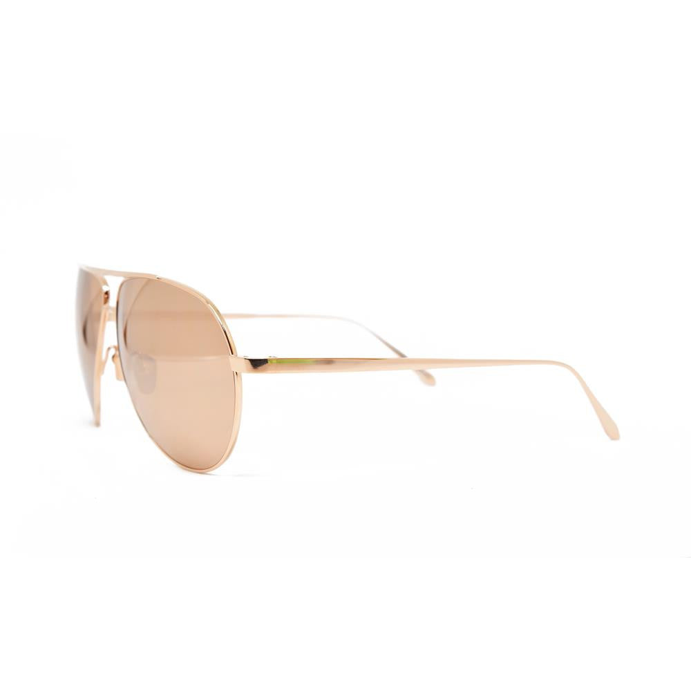 869e6846461 Linda Farrow 501 Aviator Sunglasses in Rose Gold – Spectacle Hut