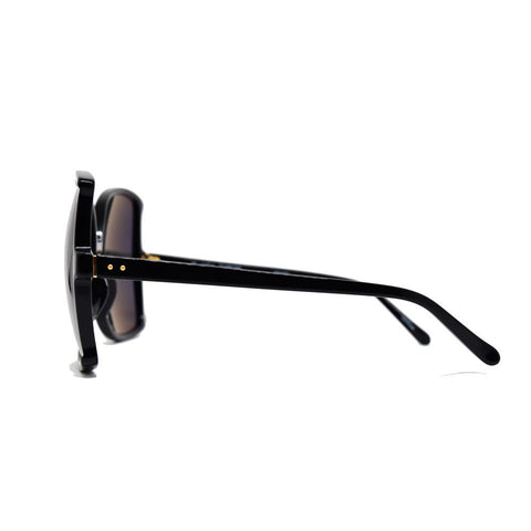 Linda Farrow 514 Oversized Sunglasses in Black