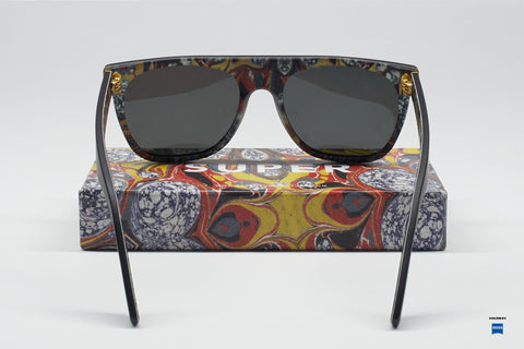 Super Flat Top Marezzato Sunglasses
