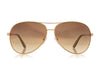 Tom Ford FT0035 CHARLES ROUND AVIATOR SUNGLASSES