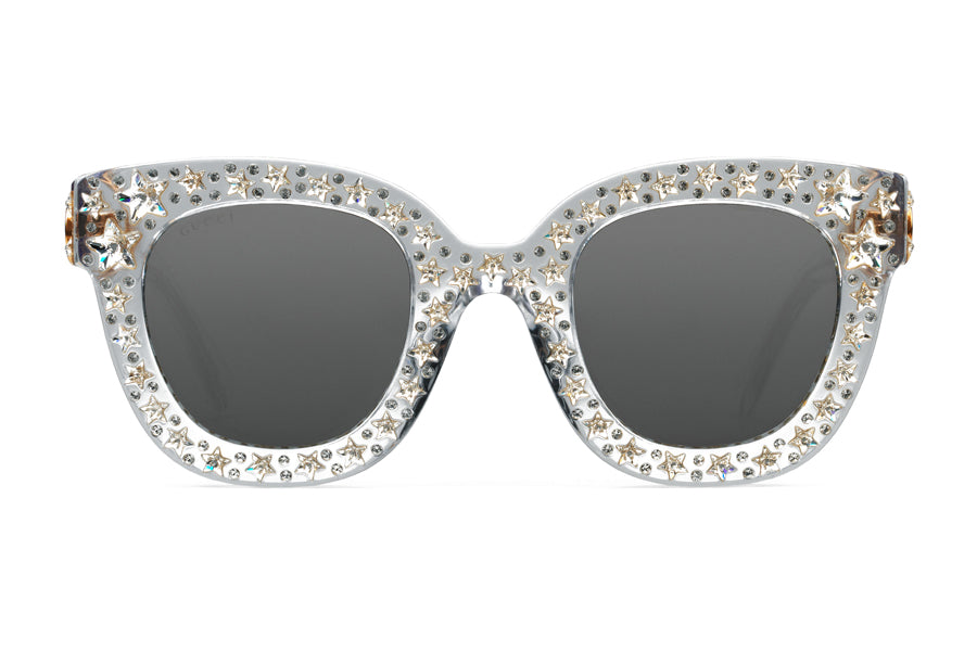 055acaeb4db Gucci Cat Eye Acetate Sunglasses with Stars