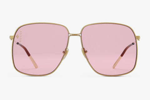Gucci Rectangular-frame Metal Sunglasses