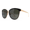 Linda Farrow 547 Oversized Sunglasses In Black & Rose Gold