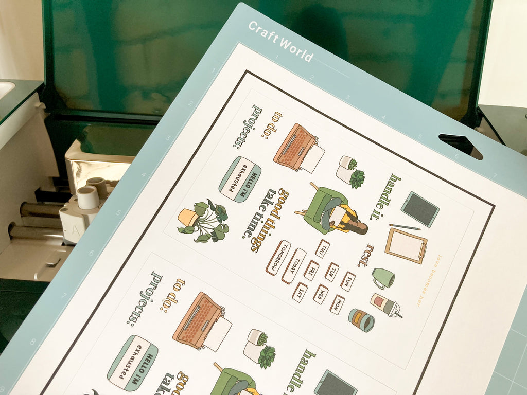 how to print and cut stickers cricut