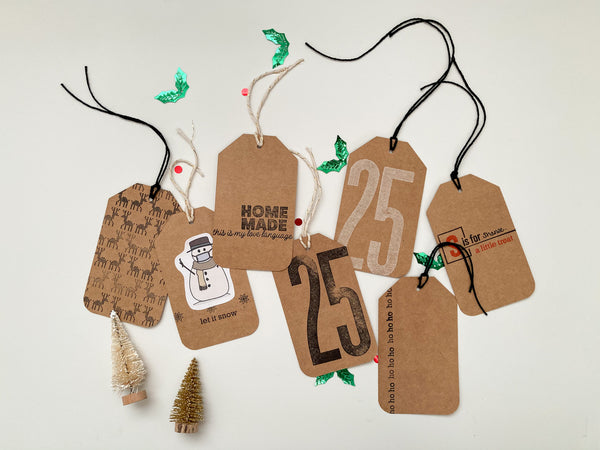 snail mail gift tags