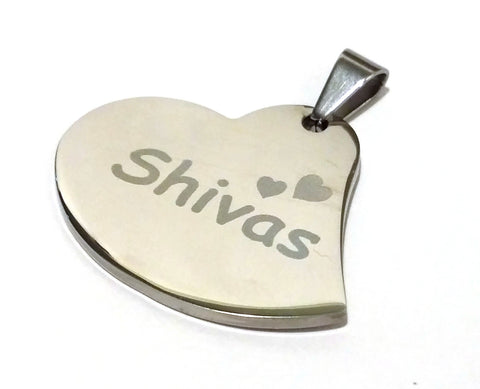 Curvy Heart Pet Tag