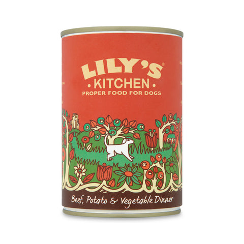 Lily's Kitchen - Beef Potato and Vegetable Dinner for Dogs