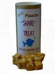 Poochs Shake and Treat 100% Dried White Fish Cubes