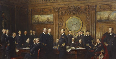 Naval Officers of World War I NPG 1913 Portrait Print