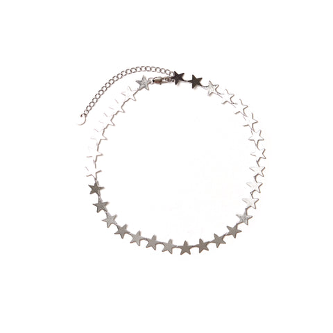 Silver Stars Necklace