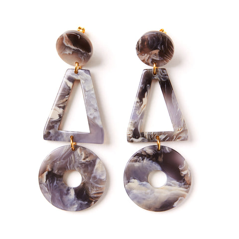 Grey Marble Earrings