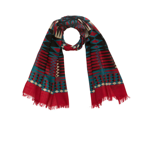 Harlequin Wool Scarf