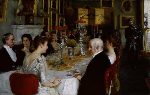 Dinner at Haddo House, 1884 NPG 3845 Portrait Print