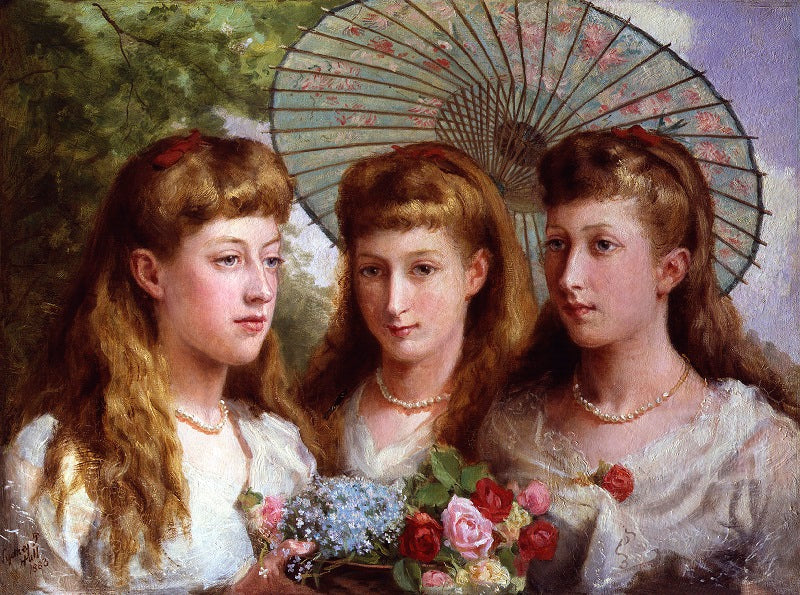 The three daughters of King Edward VII and Queen Alexandra NPG 4471 Portrait Print