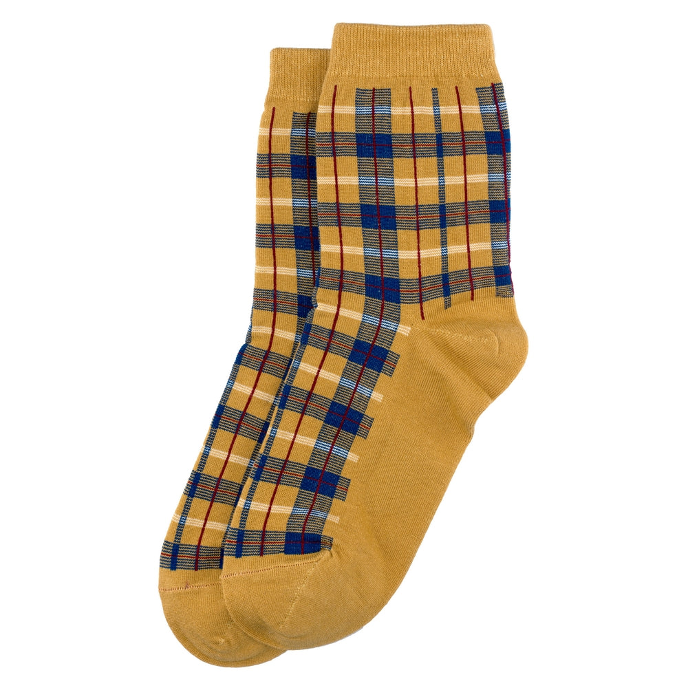 Yellow Tartan Socks