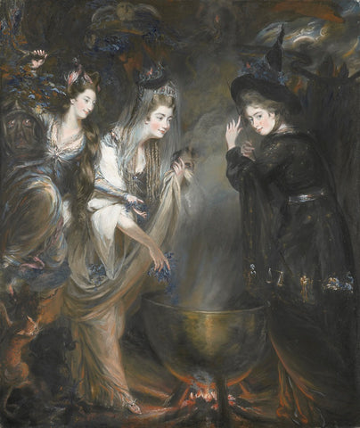 The Three Witches from Macbeth (Elizabeth Lamb, Viscountess Melbourne; Georgiana, Duchess of Devonshire; Anne Seymour Damer) NPG 6903 Portrait Print