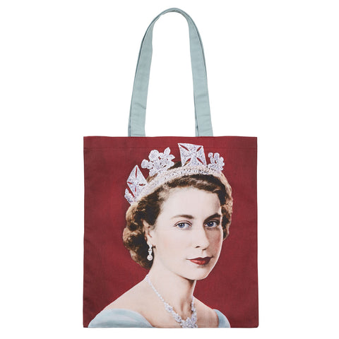 Queen Elizabeth II Cotton Tote Bag