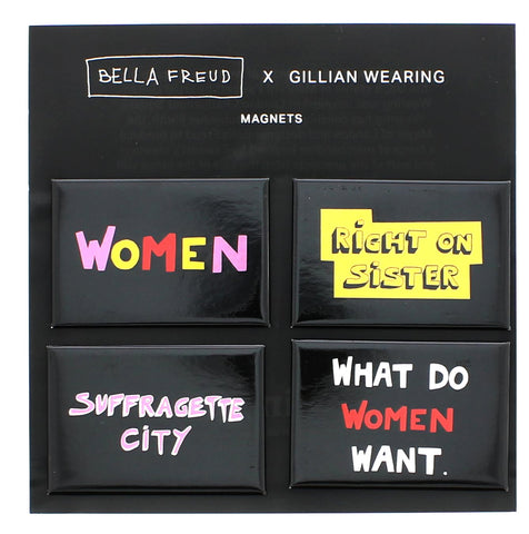 Bella Freud x Gillian Wearing Suffragette City Set of 4 Magnets