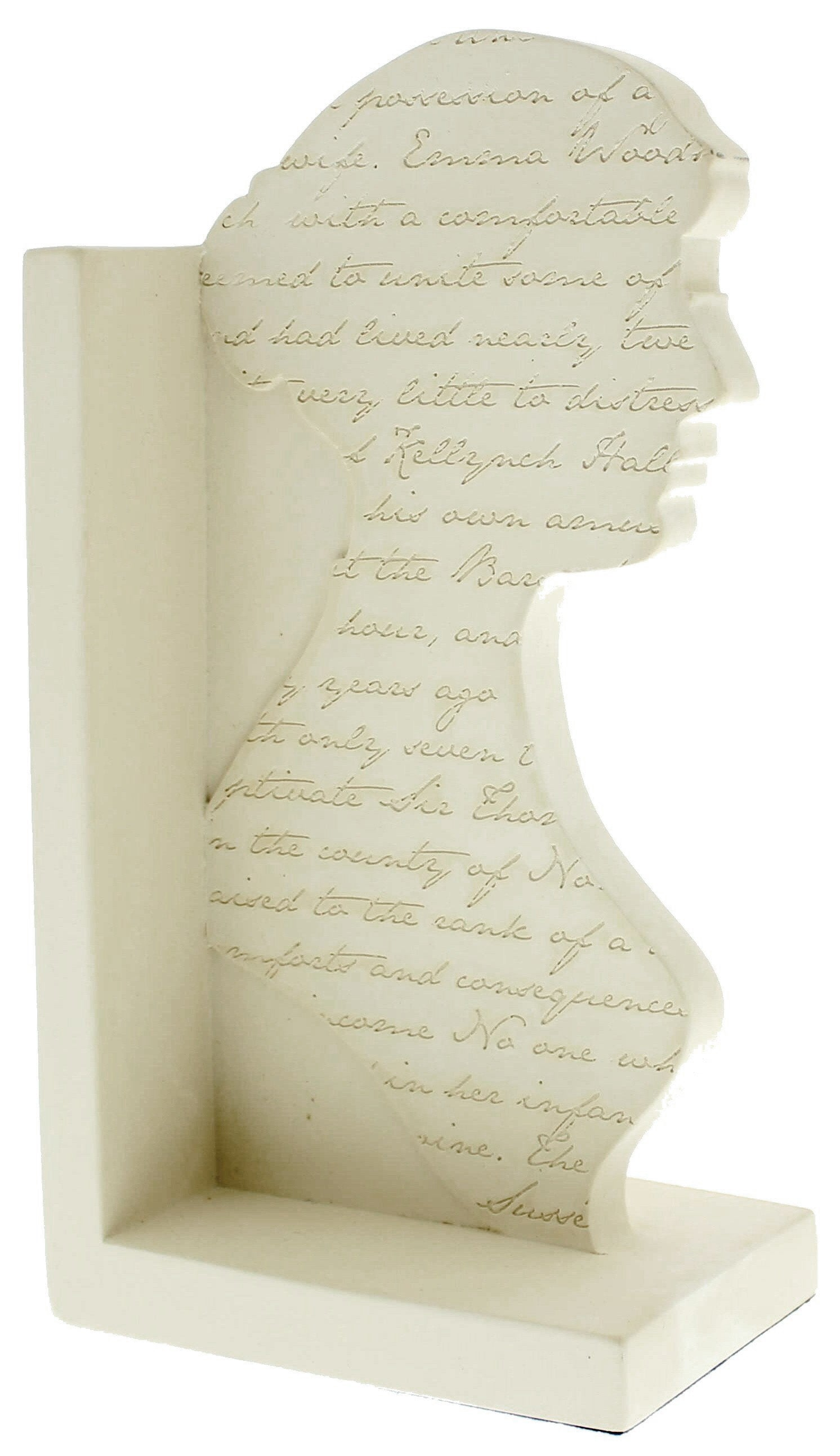 Jane Austen Silhouette Bookend