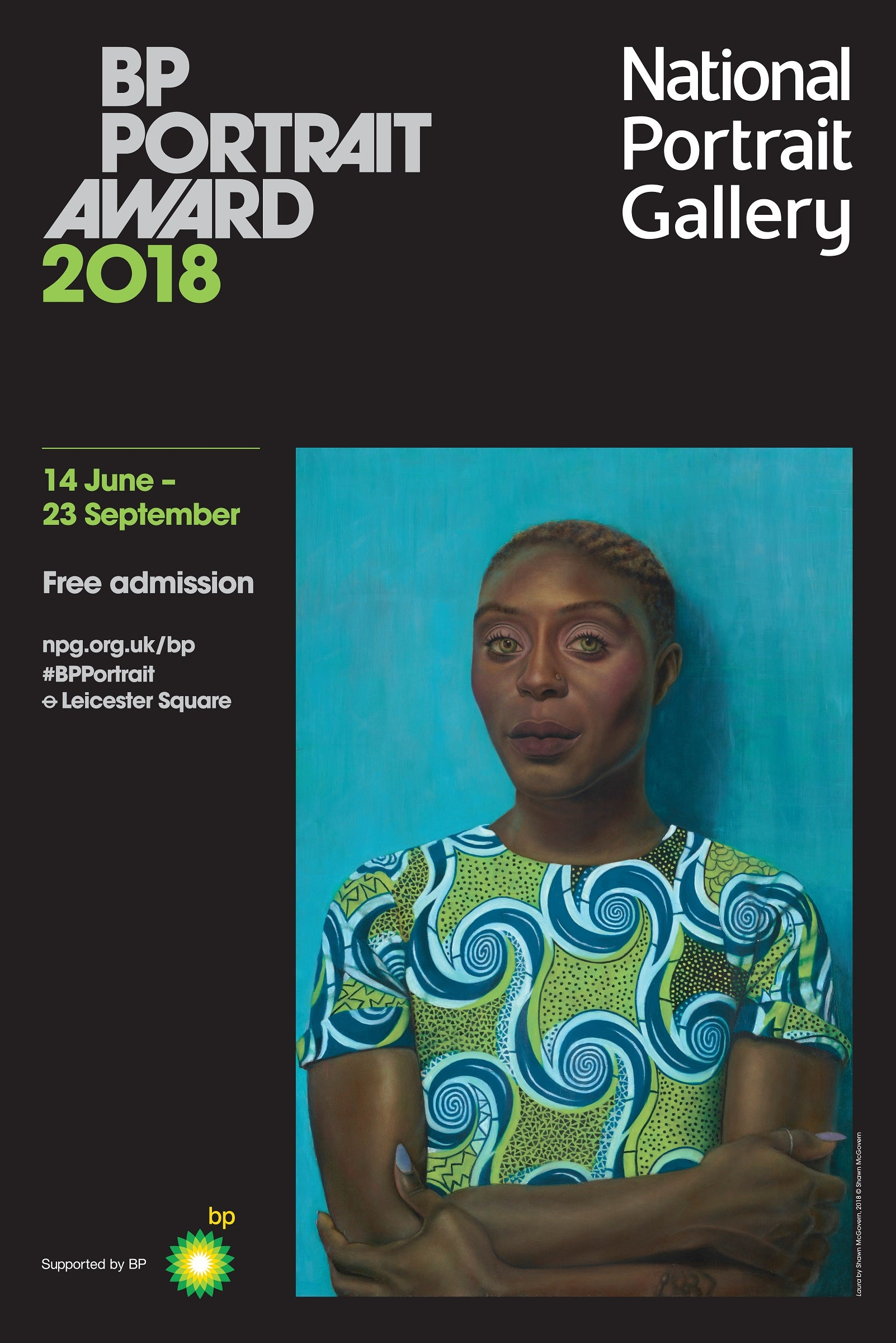 BP Portrait Award 2018 Exhibition Poster