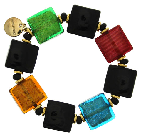 Murano Cushion Square Stretch Bracelet