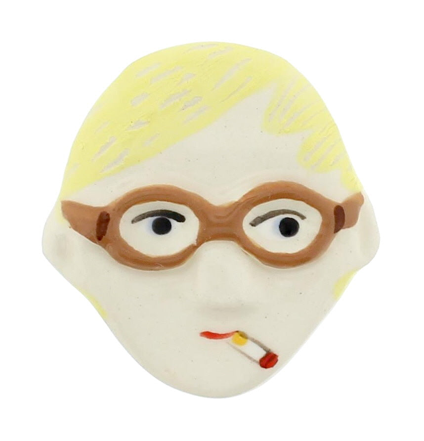 David Hockney Ceramic Brooch