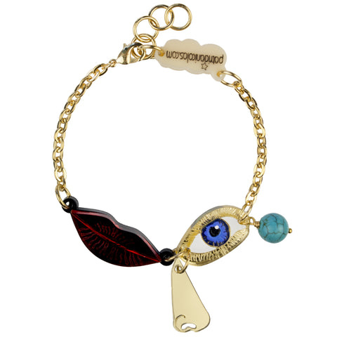 Eye and Lips Bracelet