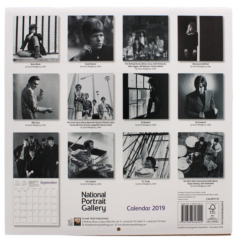 National Portrait Gallery Rock Icons 2019 Calendar