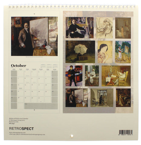 Artists at Work 2019 Square Calendar